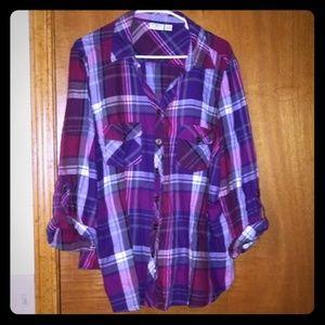 Catos purple plaid shirt